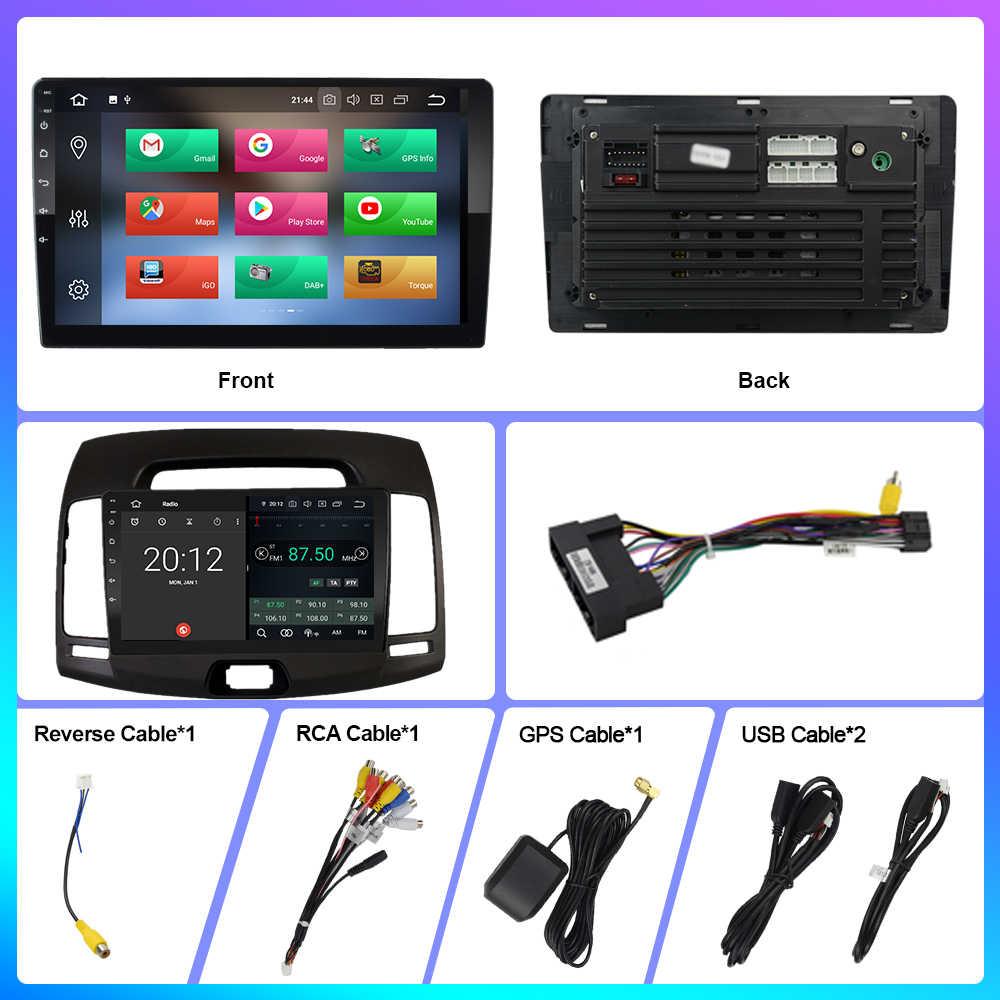 OKNAVI Android 9.0 4G + 64G ROM araba radyo multimedya Video oynatıcı Hyundai Elantra HD 2006 - 2010 navigasyon GPS 2 Din hiçbir Dvd