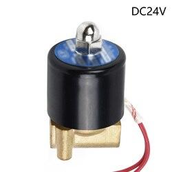 """1PC elektromagnetyczny elektryczny zawór pneumatyczny do wody oleju powietrza AC220V/DC12V/DC24V G1/4 \ \ \ \ \ \"""" w Złącza ogrodowe do wody od Dom i ogród na"""