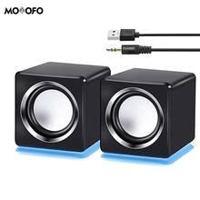 Computer Speaker LED USB Speaker Wired Multimedia Speaker for PC Monitor Desktop Laptop Gaming