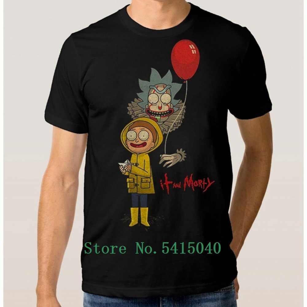 T-shirt Pria Ini dan Morty Pennywise Baru Lengan Pendek Tee Kami Tee Shirt untuk Pria Atasan Katun Pria Baru untuk Pria O-neck