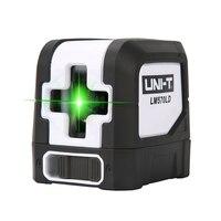 UNI T 2 linie LM570LD 3D zielony Laser Level Mini pionowy krzyż wiązka laserowa samopoziomujący kryty odkryty niwelator laserowy w Poziomice laserowe od Narzędzia na