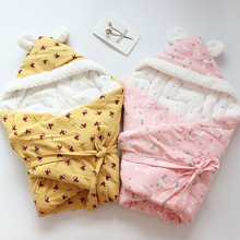 Baby Swaddle For Newborns Soft Cotton Envelope Discharge Children Blanket Infant Diaper Cocoon Stroller Sleeping Bag