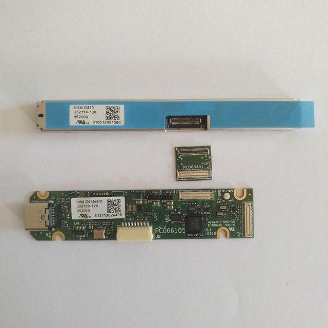 1 ชุด X Intel Realsense D415 D430 ชุดโมดูลโมดูลกล้อง + D400 50 PIN Interposer + D4 การ์ด + สาย USB