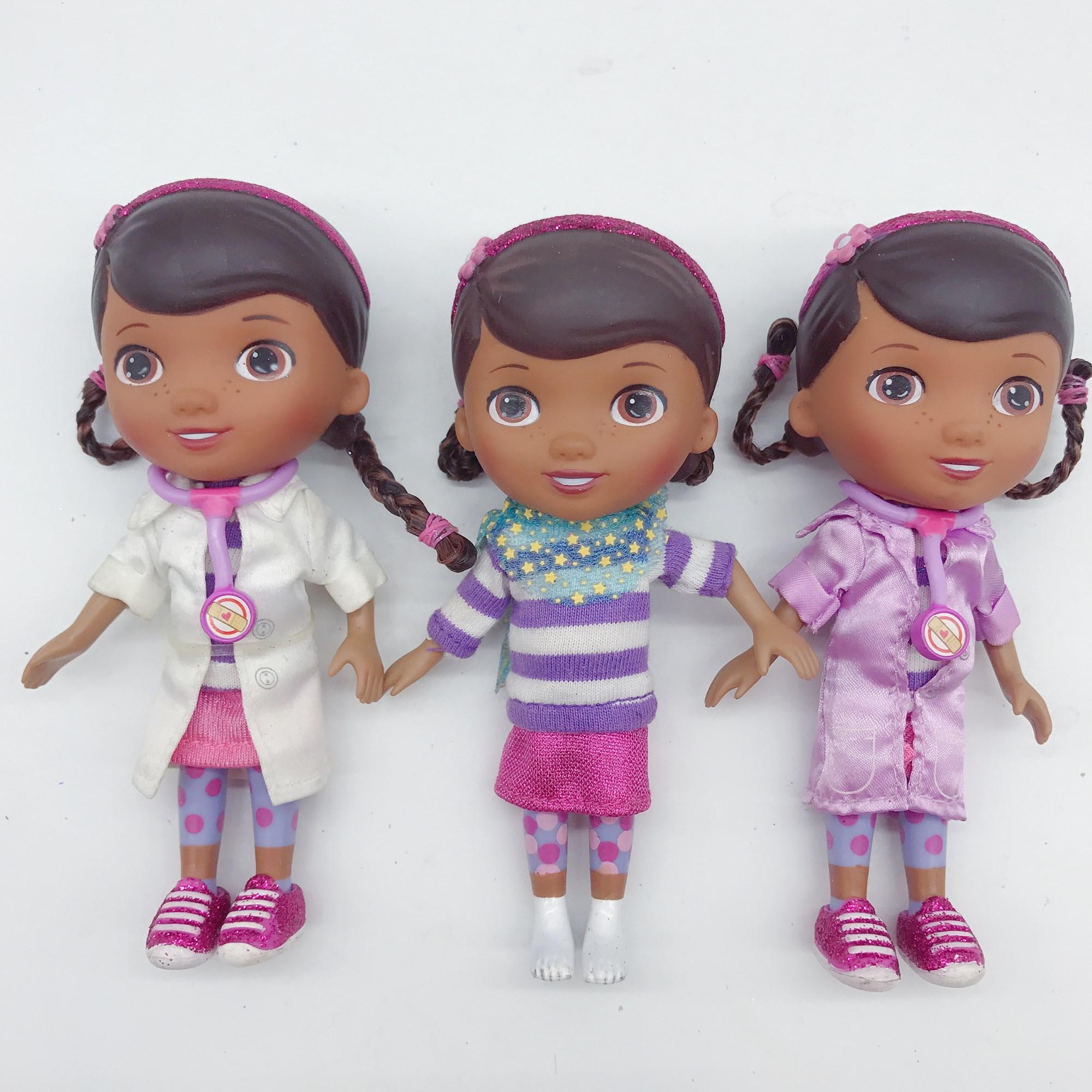 New Toys 13cm Doc McStuffins Dottie Doctor Friends Girls Action Figure Toys Girls Dolls Gifts