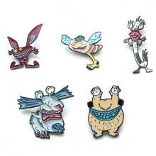 K49 Aaahh!!! Real Monsters Metal Enamel Pins and Brooches for Women Men Lapel Pin Backpack Badge Denim Brooch Collar Jewelry