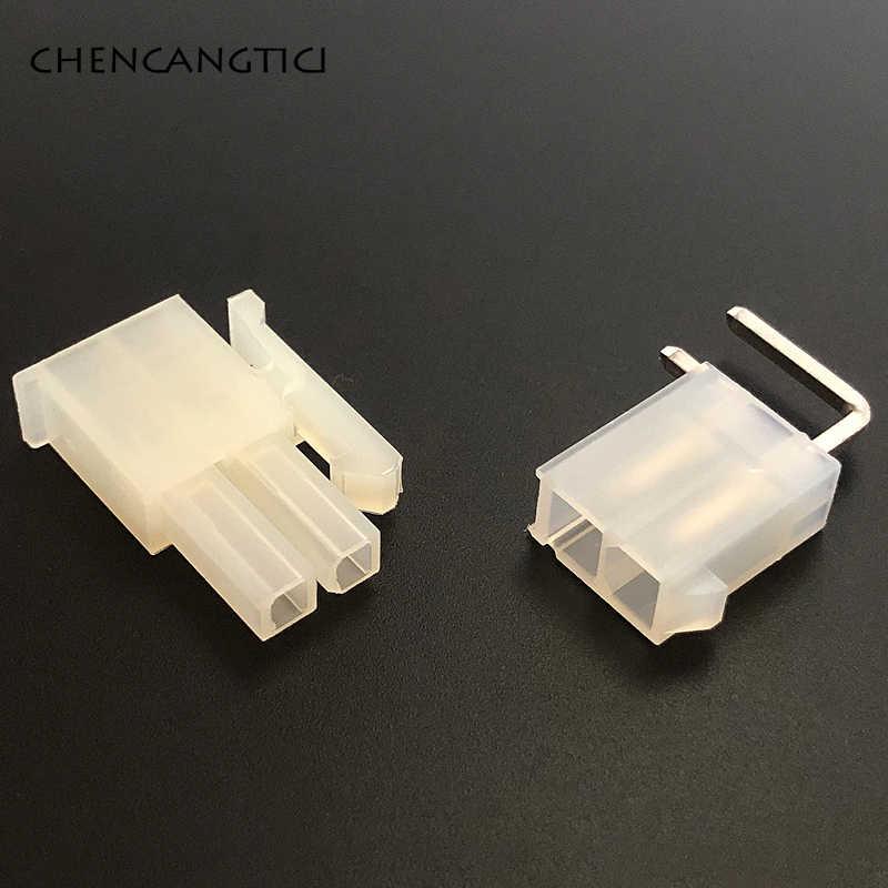 5 sets stücke 2 Pin way Molex Elektrischen Draht Stecker Rechten Winkel Stecker für Auto Auto PC ATX PC/computer grafikkarte auf bord