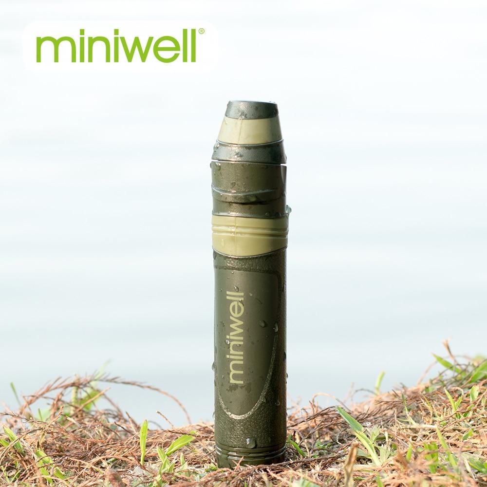 Filtre à eau miniwell en paille Camping, randonnée, paille sauvage pour la vie en plein air
