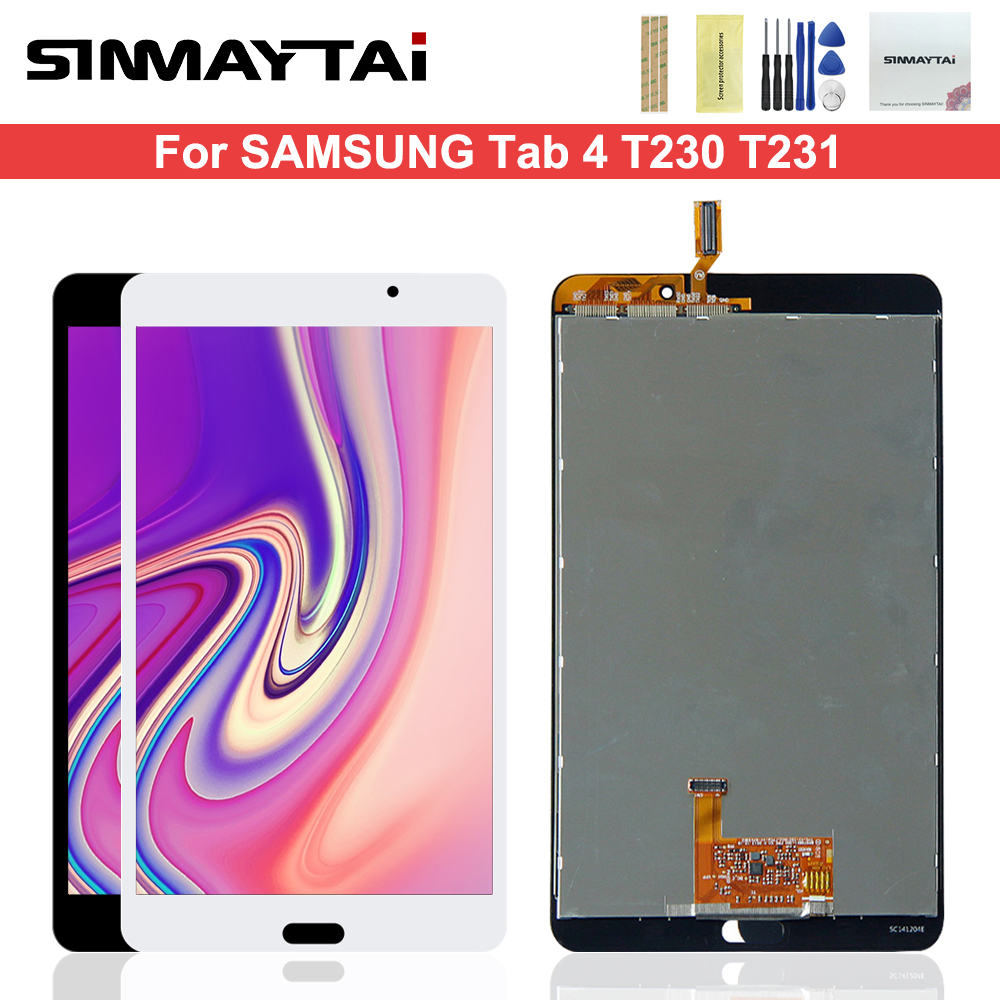 Screen Replacement for Samsung Galaxy Tab 4 7.0 T230 Compatible with Samsung Galaxy Tab 4 7.0 T230 LCD Display Touch Screen Replacement Digitizer Assembly with Repair Tools Kit White