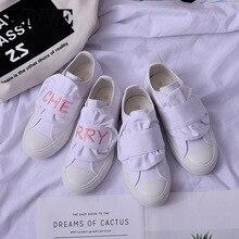 Autumn Low cut canvas shoes white women sneakers flats female vulcanize tenis feminino zapatos de mujer basket femme
