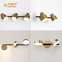 (E27 Led lampe Für Freies) nordic 1/2 /3 Köpfe led wand lampe badezimmer lampe für spiegel Goldene treppen licht Eisen wand licht für schlafzimmer LED-Innenwandleuchten    -