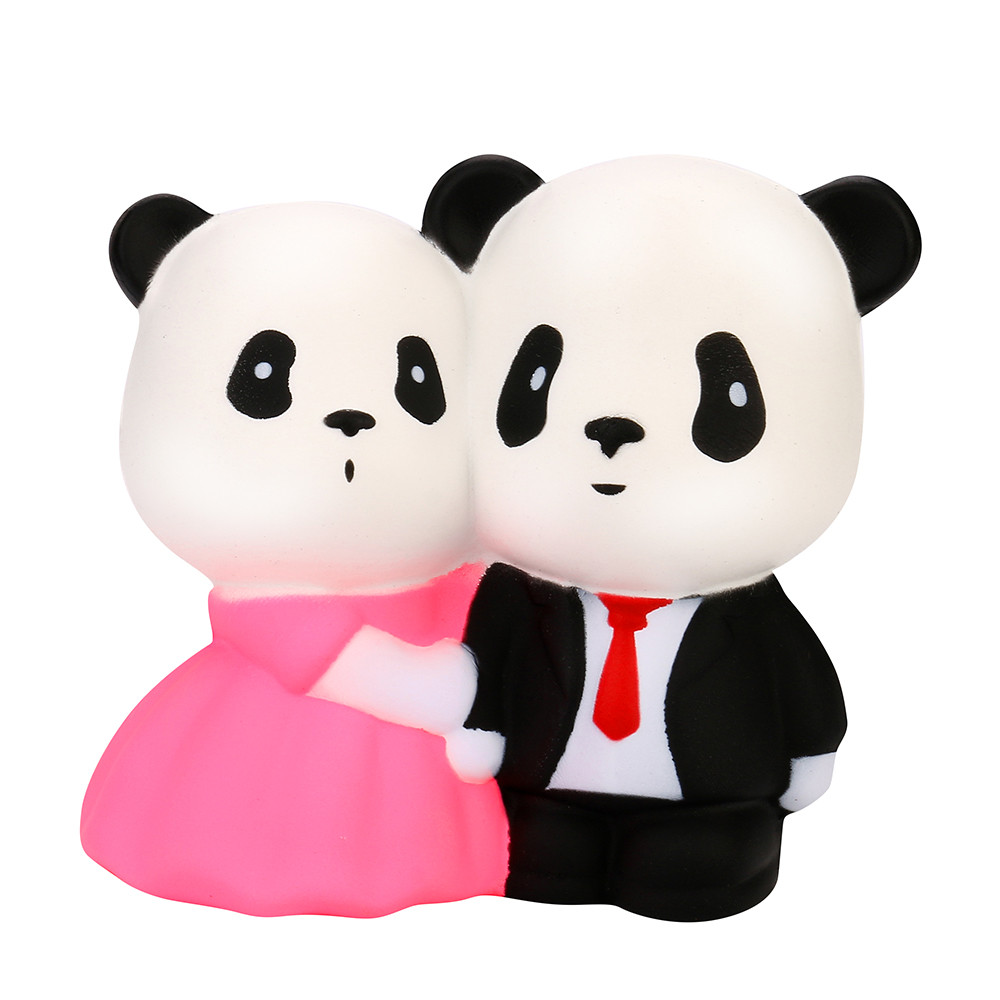 Jumbo Squishy Super Wedding Panda Super Slow Rising Squeeze Collection Toy Gift Marry Panda  Pressure Reduction Toy L103