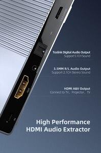 Image 2 - Unnlink hdmi 2.0 オーディオ extractor 2 で 1 アウト 2 × 1 スイッチ uhd 4 18k @ 60 hz HDCP2.2 分割 5.1ch spdif toslink 2.1ch 3.5 ミリメートルアークため PS4 テレビ