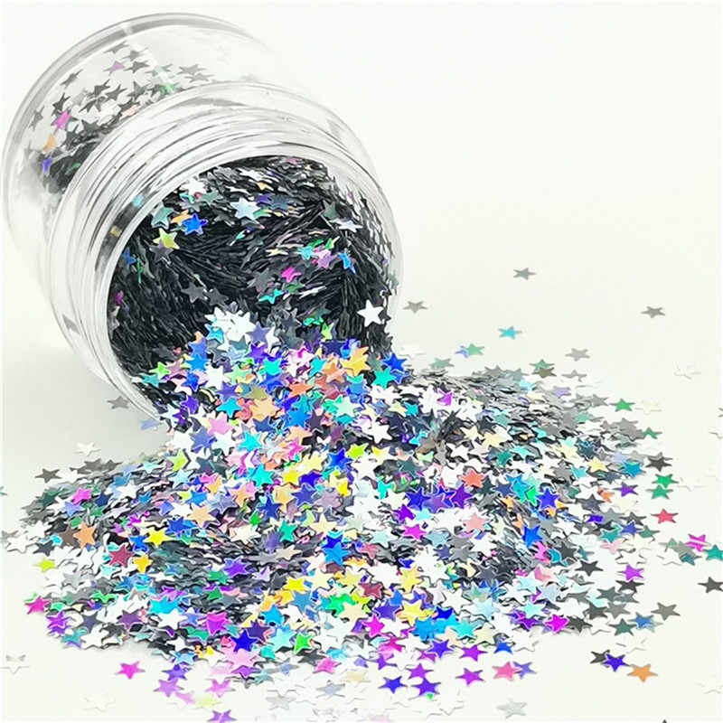3 Millimetri Star Ultrasottile 3D Paillettes Unghie Artistiche Glitter Mini Paillettes Eo-Friendly Pet Paillettes Fai da Te Nail Manicure Della Decorazione Materiale 10G