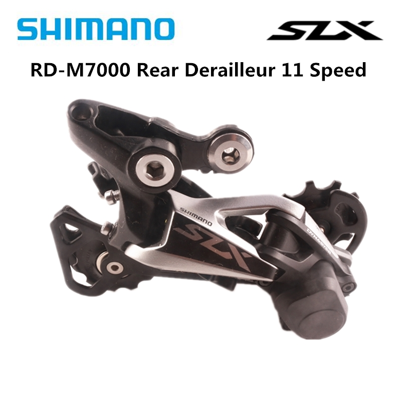 <font><b>Shimano</b></font> <font><b>SLX</b></font> <font><b>M7000</b></font> Shadow + Rear Derailleur <font><b>11</b></font> Speed Mountain Bike Bicycle <font><b>M7000</b></font> Derailleur - GS - Medium MTB Original Bike Parts image