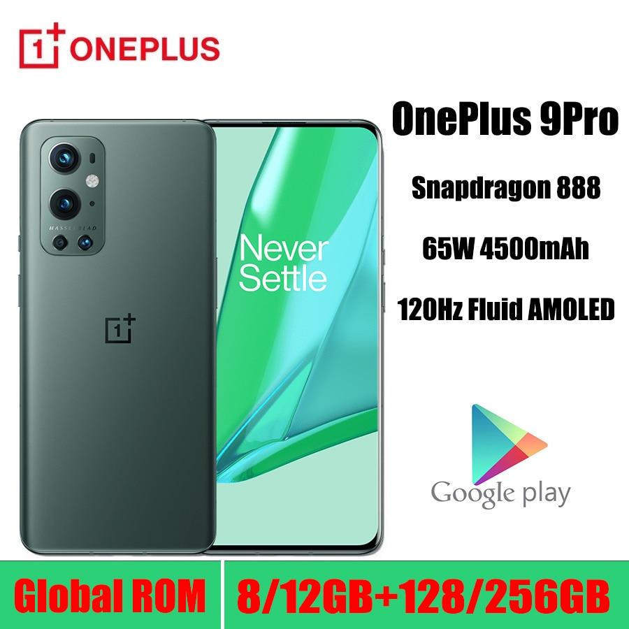 Смартфон OnePlus 9 Pro 5GGlobal Rom 8 ГБ 128 ГБ Snapdragon 888 120 Гц жидкий дисплей 2,0 дюймов Hasselblad 50 МП ультра-широкий