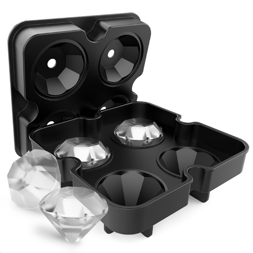 4 Cell Diamant Ice Ball Mold Silikon Ice Cube Tray Whiskey Ball Maker Eis Formen Form Schokolade Form Für party Bar