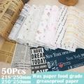 50Pcs Ölpapier Wachs Papier Lebensmittel Wrapper Papier Für Brot Sandwich Frites Dekoration Verpackung Papier Antihaft Backen Wachs Papier