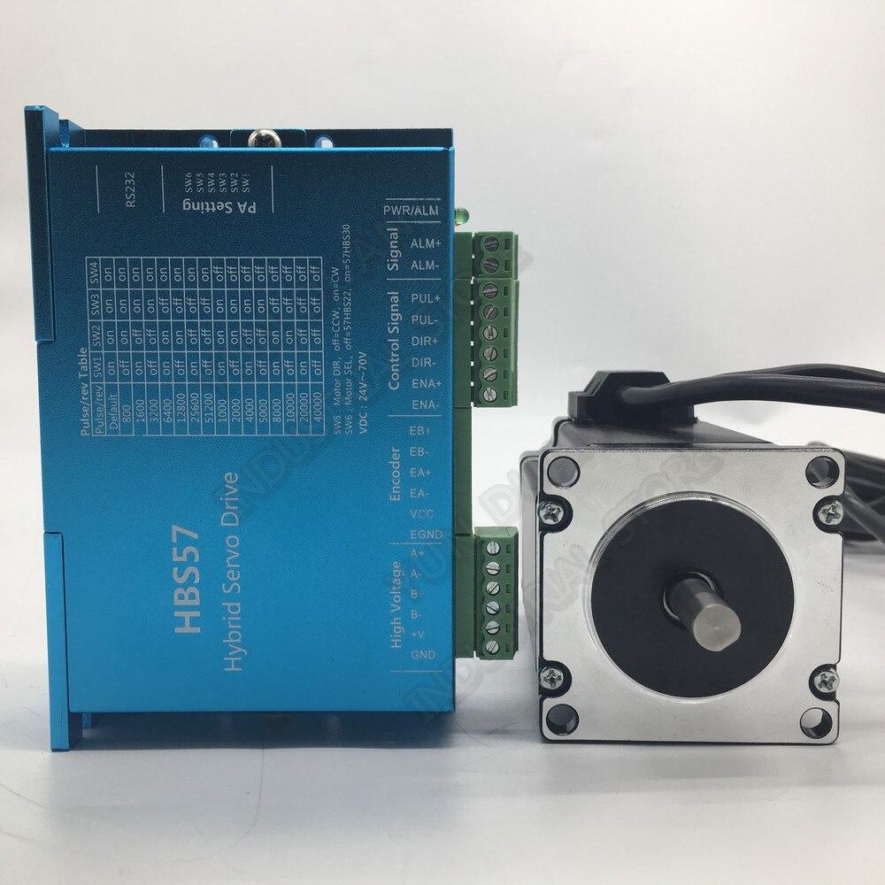 1000 tr/min haute vitesse 42 Nema17 42MM 2PH DSP Kit de pilote de moteur pas à pas en boucle fermée encodeur Hybird Servo facile pour imprimante de routeur CNC