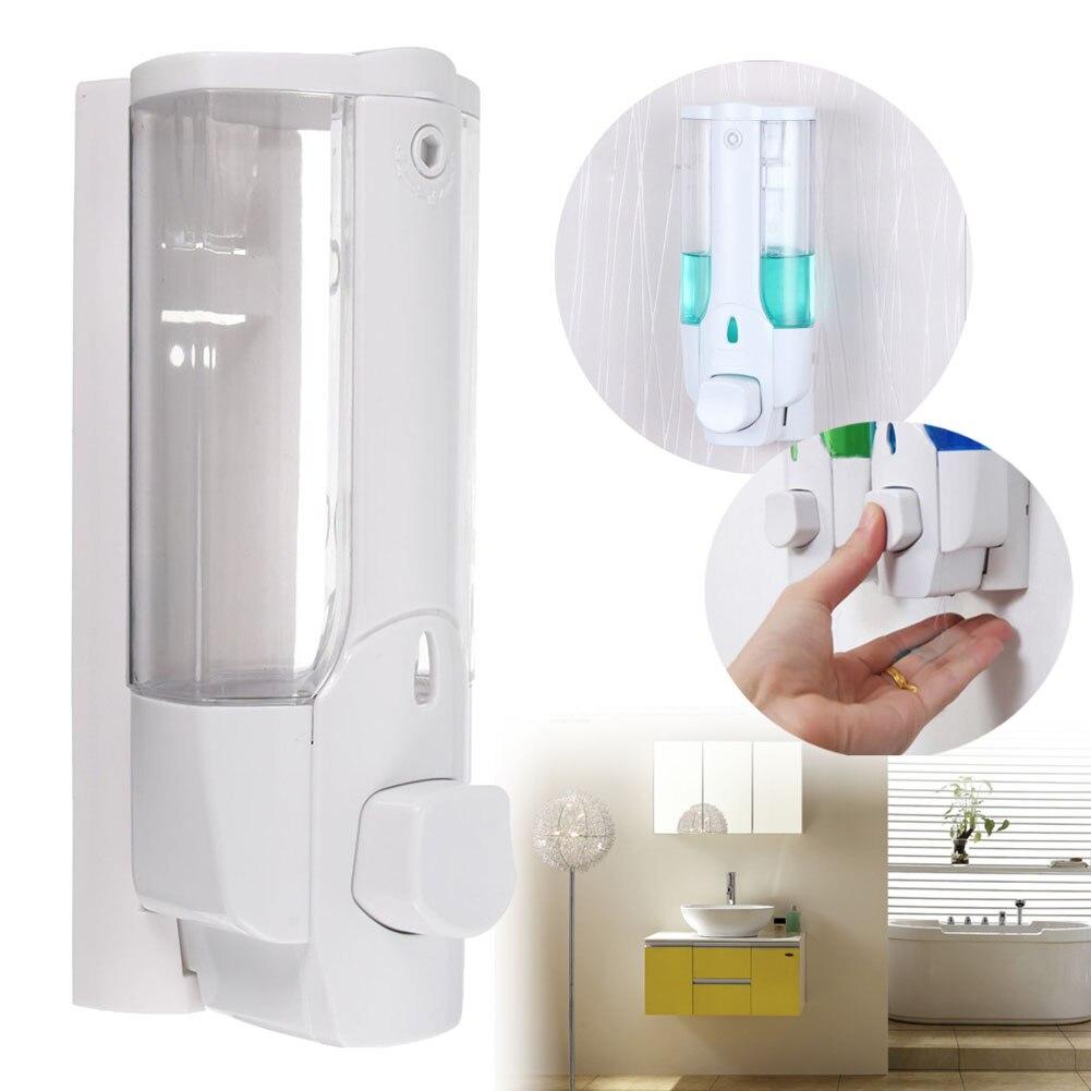 Wall Mounted Shampoo Soap Dispenser Sanitizer Bathroom Shower Liquid Lotion Pump LKS99