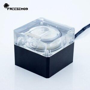 Image 3 - FREEZEMOD Compute Cooling PC Water Cooler Mute ปั๊ม PWM อัจฉริยะกระแสเงินสด 800L/H 12V/5V RGB light Aure. PU FS4M J