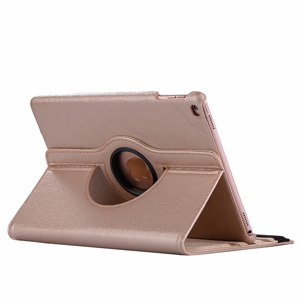 gold Red 360 Degree Rotating PU Leather Flip Cover Case For iPad 10 2 2020 2019 8th 7th