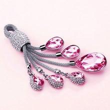 Розовый кристалл автомобильный брелок стильный Креативный для мини автомобиля брелок автомобильный брелок для женщин подарок для девочек BY013