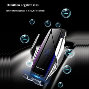 Image 4 - אוויר מטהר רכב מטען אלחוטי Qi אוטומטי מהדק תשלום מהיר הר עבור Huawei P30Pro Mate30 Iphone11 XR XS מקסימום X