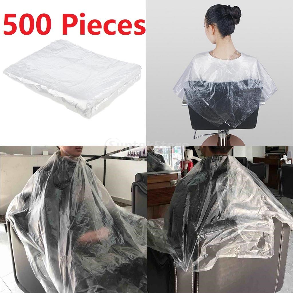 capas descartáveis do corte de cabelo dos pces 500