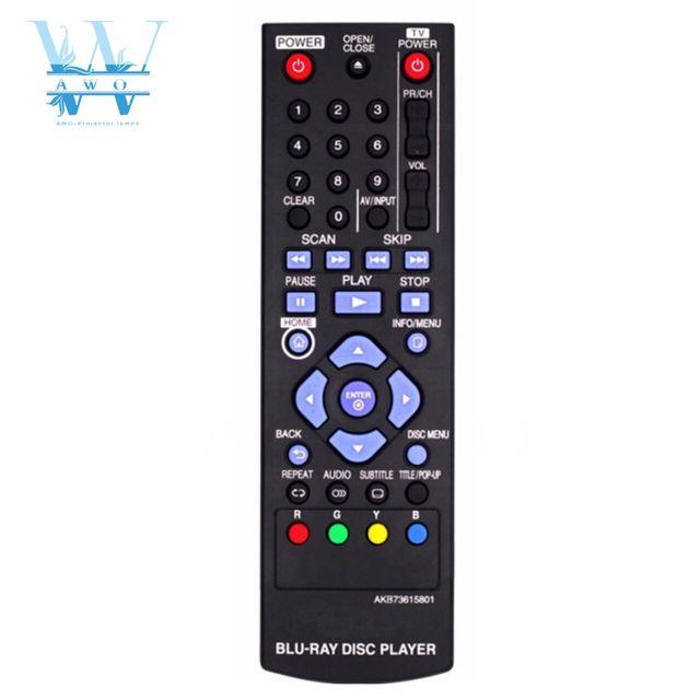 New Remote Control For LG Blu Ray DVD Player AKB73615801 BD670  BD560 BD550 BD620 BP125 BP200 BP325