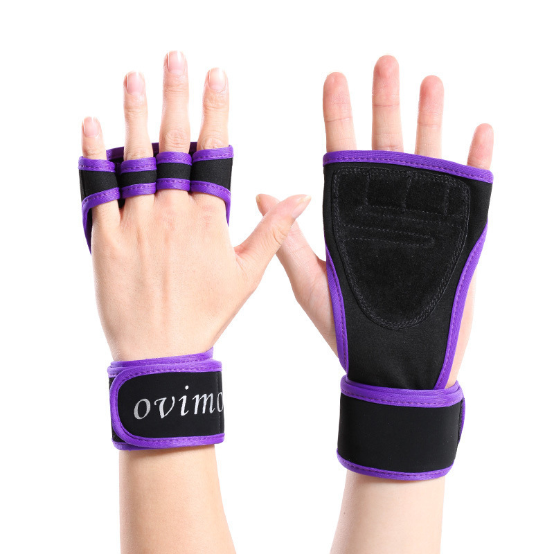 Hot Selling Weightlifting Fitness Gloves Half-finger Gloves Men's Women's Anti-slip Wear-Resistant Breathable Dumbbell Exercise