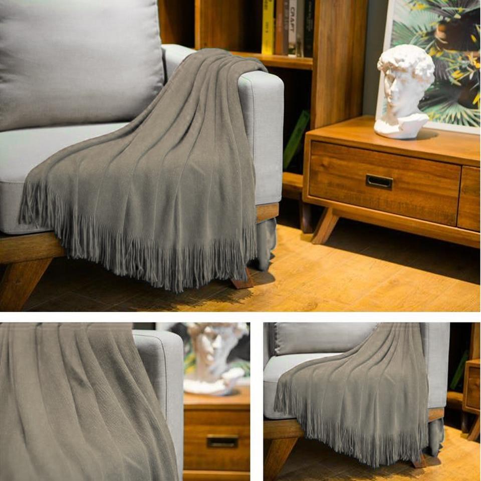 130cmX200cm Nordic Blanket Super Soft Crochet Sofa Cover Blanket Home Decor