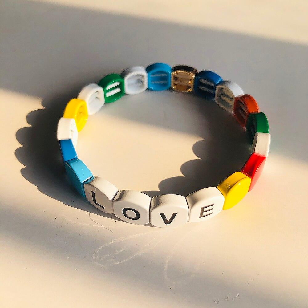 Bracelet name Band Letter Heart28 colors