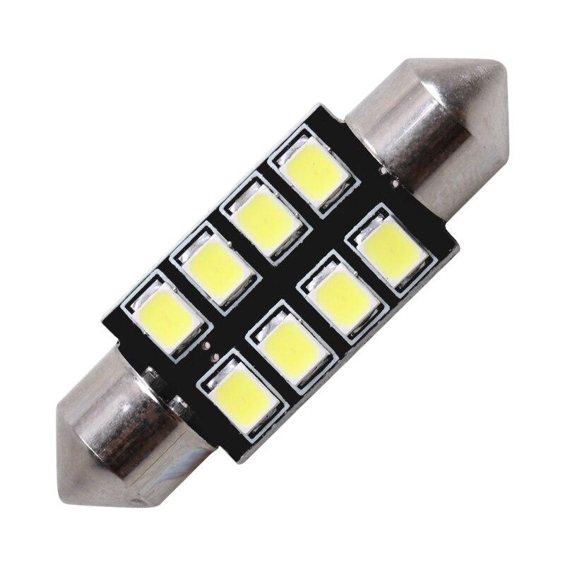 1x31 мм 36 мм/39 мм/41 мм автомобиля светодиодный светильник C5W C10W 2835 SMD CANBUS гирлянда авто лампа Подсветка салона белый ледяной, синий, розовый, 12v