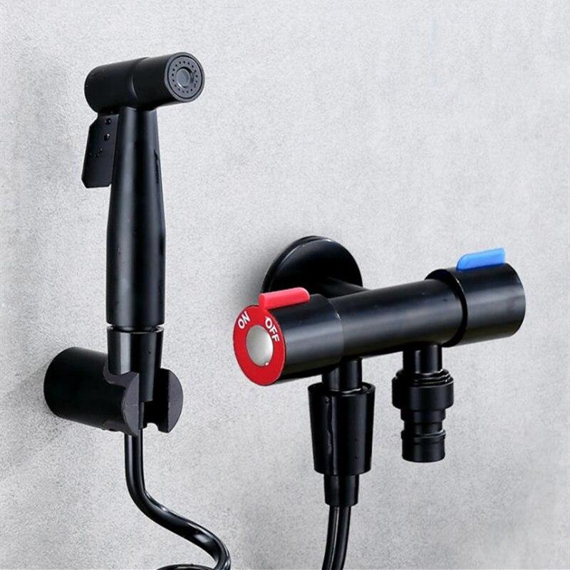 Matte Black Bidet Shower Faucet Bidet Faucet Muslim Ducha Higienica Hot Cold Water Mixer Tap Toilet Faucets