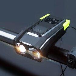 2020 nowa lampka rowerowa ładowana na USB wodoodporna klakson rowerowy light lighting latarka na reflektor rowerowy akcesoria rowerowe