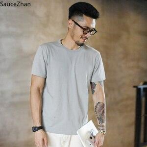 Image 1 - SauceZhan 3 Kim Gia Cố Nam Mùa Hè Áo Thun Cotton Cổ Tròn Chắc Chắn Áo Thun Dành Cho Người Đàn Ông Dày Mềm Mại Không Bị Biến Dạng