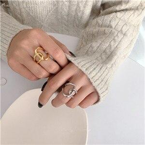 AOMU-1PC-2020-Fashion-Golden-Metal-Rings-for-Women-Geometric-Cross-Twist-Minimalist-Ring-Party-Jewelry