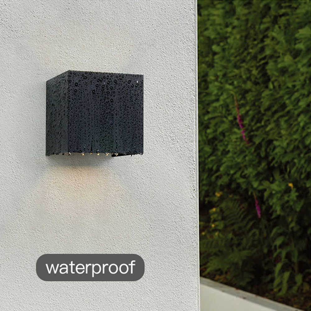 IP65 LED 방수 벽 램프 12W 실내 및 실외 가변 벽 빛 안뜰 베란다 복도 침실 벽 sconce