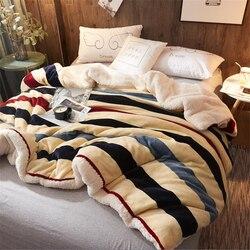 Inverno grosso velo capa de edredão super macio quente lance cobertor capa decoração para casa sofá cama cobertores colcha roupas