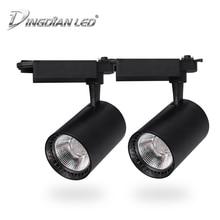 COB Spot Light Led Track Spotlights 20W 30W AC220V LED Rail for Home Supermarket Clothing Stores