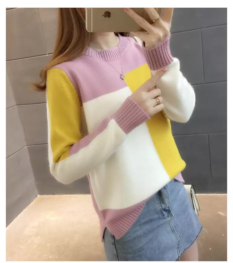 Gray Sweatershirt 2019 Autumn And Winter  New Sweater Thick Line High Collar Pullover Sweater Women