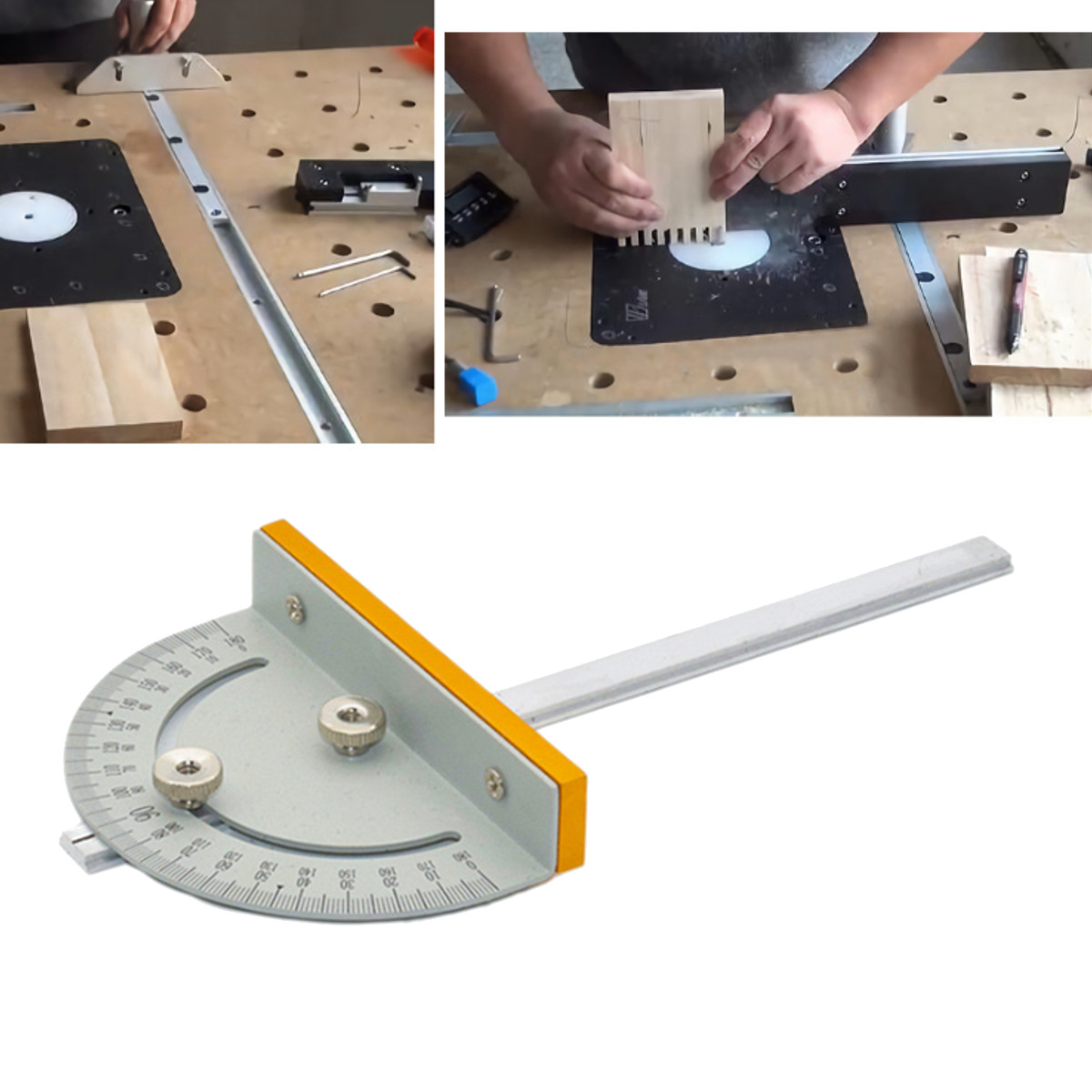 Mini Table Saw Circular Saw Table Miter Gauge DIY Woodworking Machines T-Style Angle Ruler With 180mm Handle