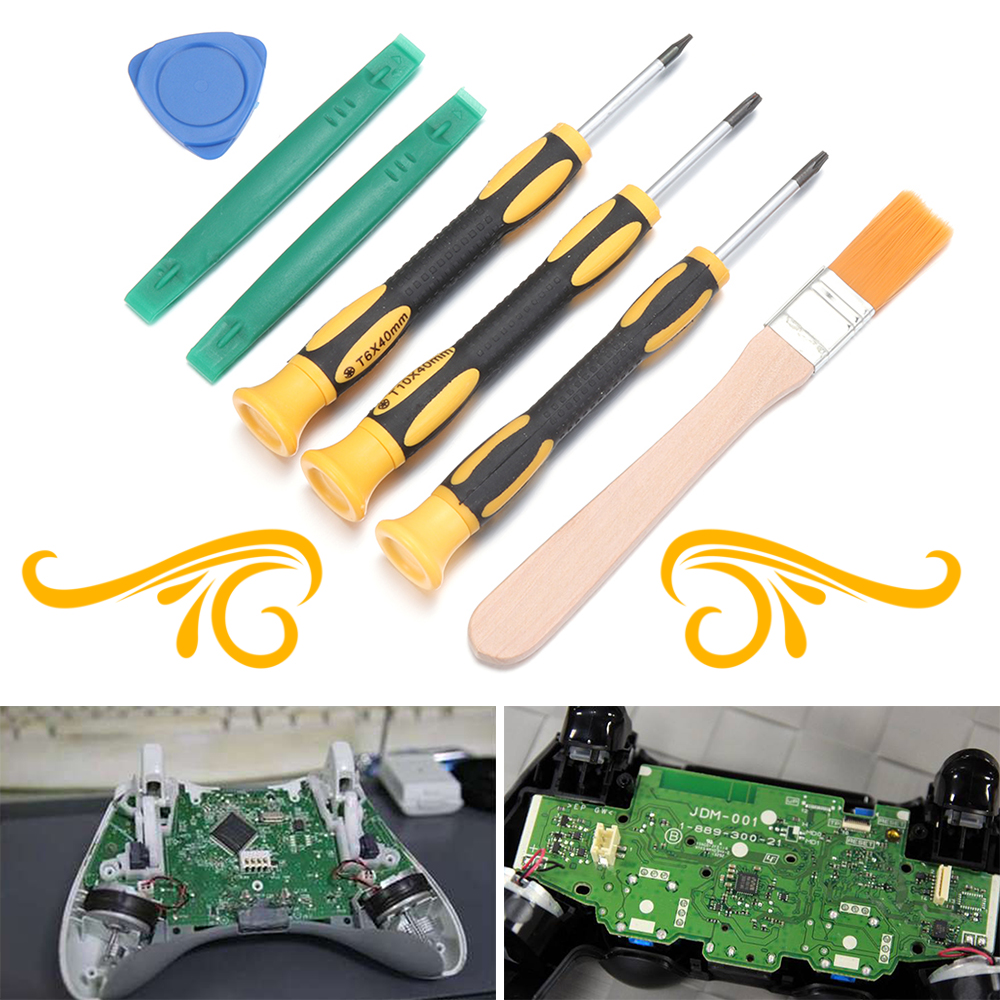 7Pcs Screwdriver Tools Repair Kit Set forXbox One /360 For PS3/PS4 Controller Gamepad Repair Tool Gaming Accessories New Hot