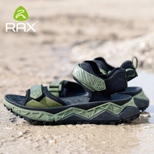 RAX Classic Men's Sandals Summer Soft Sandals Comfortable Men Shoes Genuine Leather Sandals Big Size Soft Outdoor Men  Sandals цена 2017