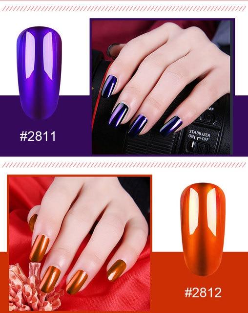 Elite99 10ml Spiegel Titan Rot Gel Nagellack Spiegel Metall Farbe Tränken Weg Vom UV Gel Lack Silber Basis Benötigt nail art Lacuqer