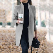 Coats Outwear Cardigan Trench-Overcoats Oversized Long-Sleeve Thin Autumn Winter Women