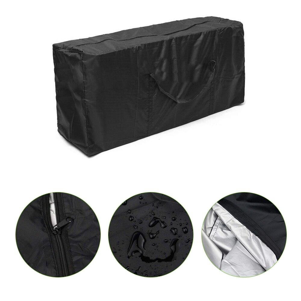 1 pçs grande capacidade de armazenamento de móveis de jardim ao ar livre saco almofadas assento capa protetora à prova dmulti água multi-função sacos de armazenamento
