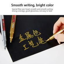 Pens Marker Sharpie Pen-Supplies Paint Waterproof Metal And C5X1 1PC Permanent DIY Gold