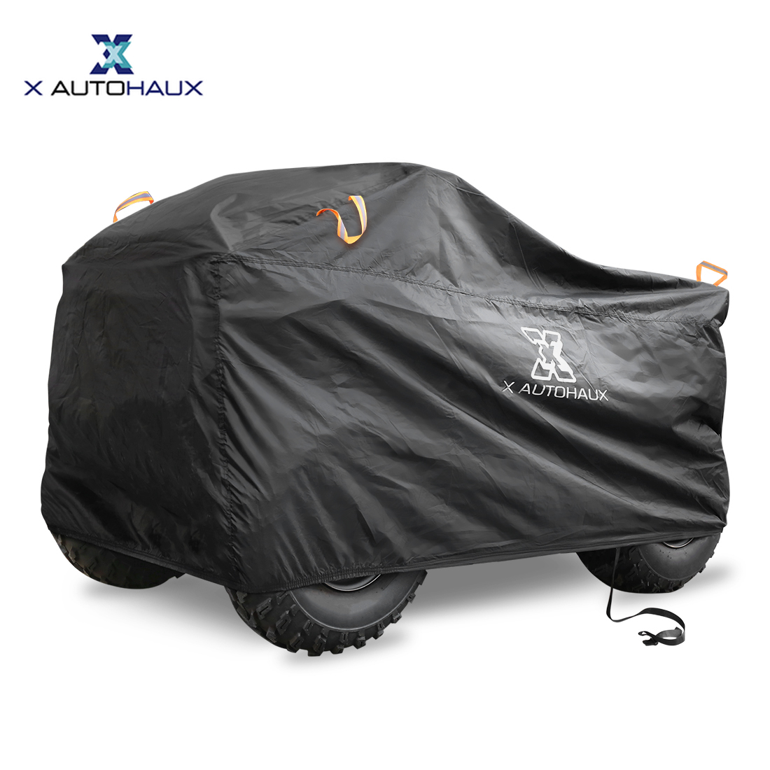 X Autohaux Quad ATV Cover Waterproof Snowproof Anti-UV Beach Protector With Reflective Strips Universal Quad Bike ATV Cover