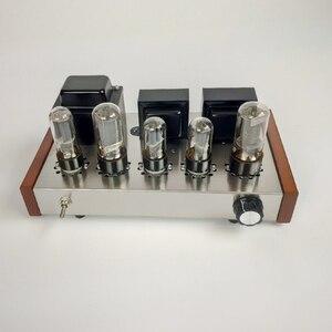 Image 2 - 2020 Nobsound Home Audioเครื่องขยายเสียงหลอดสแตนเลสสตีล5Z4P + 6H8C + 6P3Pติดตั้งหลอดเอาต์พุต8W + 8W AC110V/220V